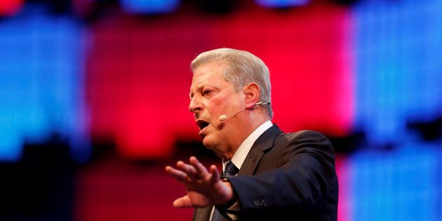 Al Gore speaks in Lisbon, Portugal on Nov. 9,