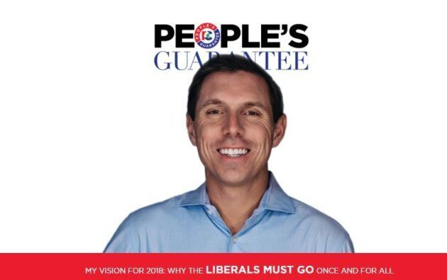 A screengrab of the cover of the Ontario PC party's