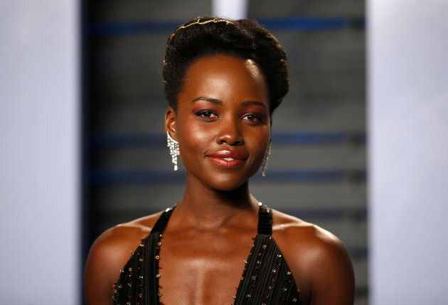 Lupita Nyong'o at the 2018 Vanity Fair Oscar