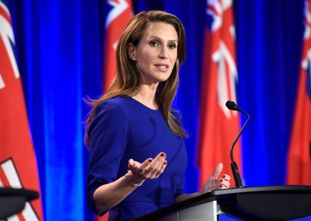 Caroline Mulroney speaks in Ottawa on Feb. 28,