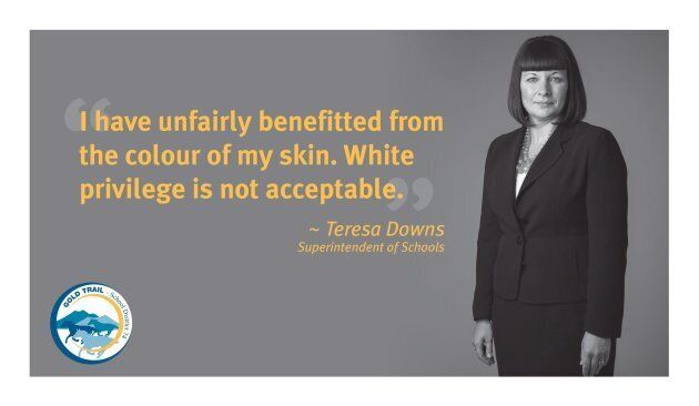 A poster campaign at a B.C. Interior school district aimed at creating a conversation on racism and privilege...