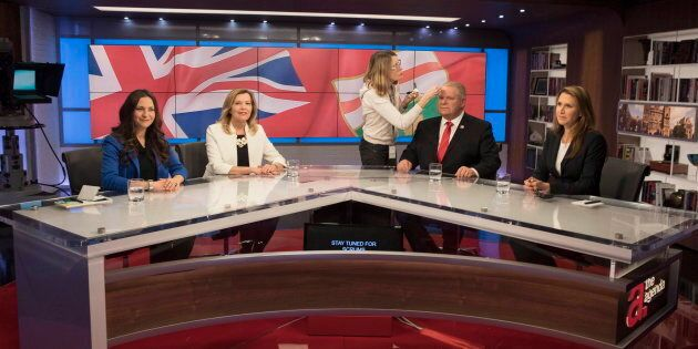 Ontario Conservative party leadership candidates (left to right) Tanya Granic Allen, Christine Elliott,...
