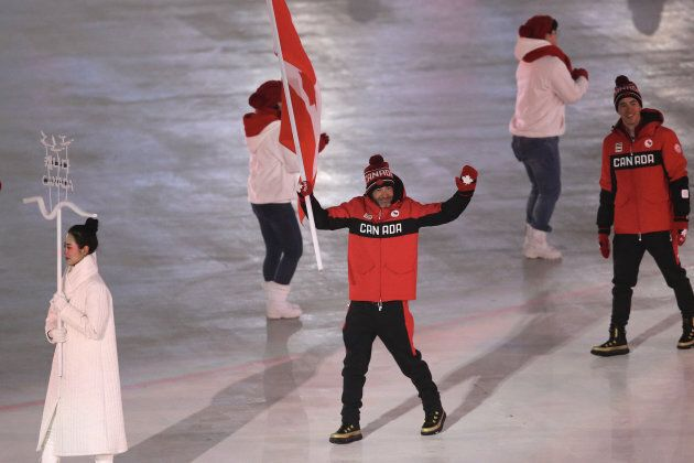 Team Canada Flagbearer and cross-country skier Brian Mckeever is one of Marcoux's role