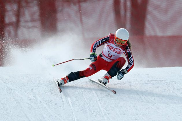 Mollie Jepsen won Canada's first medal of the Games, a bronze in the women's standing downhill on