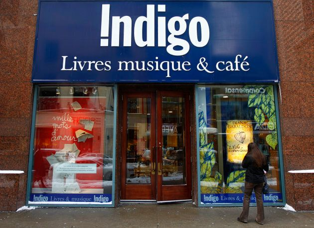 An Indigo Books and Music store is seen on Sainte Catherine Street in downtown Montreal, February 8,