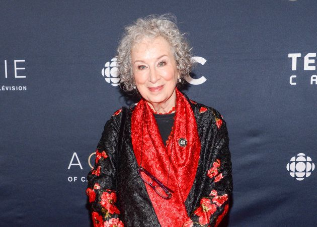 Margaret Atwood at the 2018 Canadian Screen Awards at the Sony Centre for the Performing Arts on March...