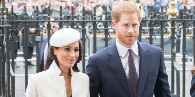 Meghan Markle and Prince Harry attend the Commonwealth Day service at Westminster Abbey on March 12,