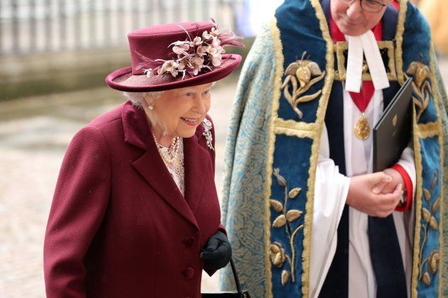 Queen Elizabeth II attends the 2018 Commonwealth Day Service.