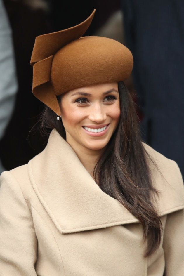 Meghan Markle attends the Christmas Day service at the Church of St. Mary Magdalene on Dec. 25, 2017...