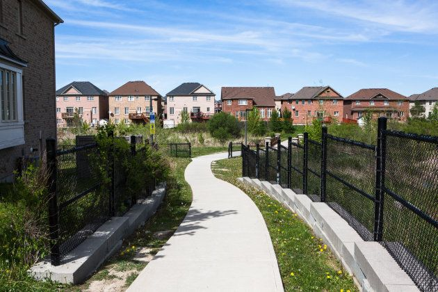 New houses stand in Brampton,