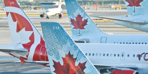 A view of Air Canada planes at Toronto's Pearson International Airport, Wed. July 20, 2016. Air Canada has...