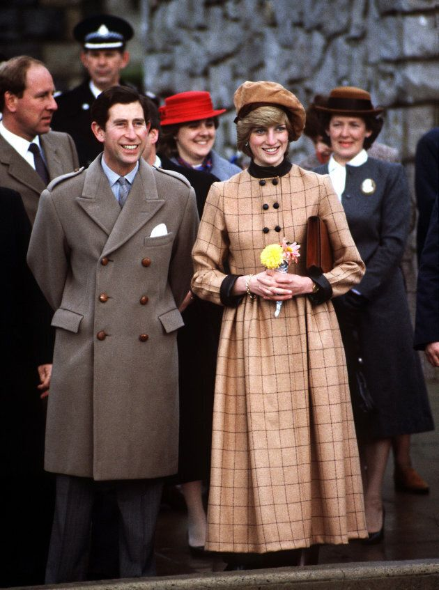 Prince Charles and Princess Diana visit Wales in November 1982. Her suede beret is by John