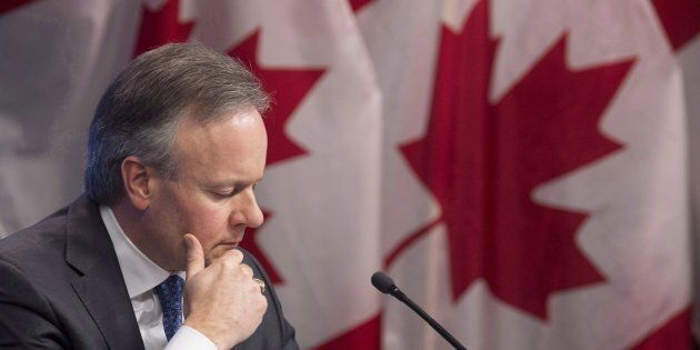 Bank of Canada Governor Stephen Poloz is seen during a news conference in Ottawa, Jan. 17. Poloz is pointing...