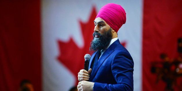 NDP Leader Jagmeet Singh shares remarks during the NDP Convention in Ottawa on Feb. 17,
