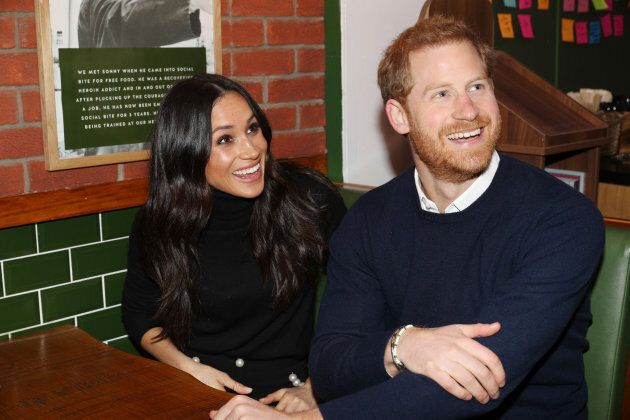 Prince Harry and Meghan Markle visit Social Bite, a business and cafe, in Scotland on Feb. 13,