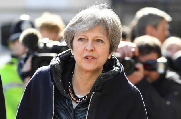 British Prime Minister Theresa May visits the city where former Russian intelligence officer Sergei Skripal...