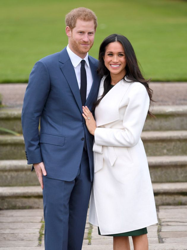 Prince Harry and Meghan Markle at an official engagement photocall on Nov. 27,