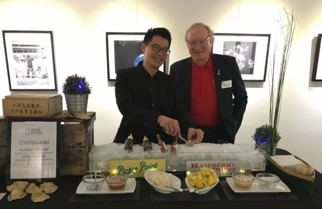 """P.E.I. Premier Wade MacLauchlan is shown at an """"Island social"""" event in Toronto on Mar. 1, 2018."""