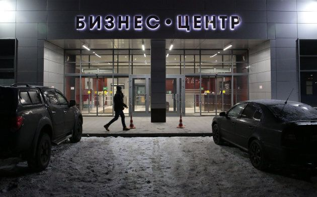 A view shows the business centre Lakhta-2, which reportedly houses news organizations and internet research...