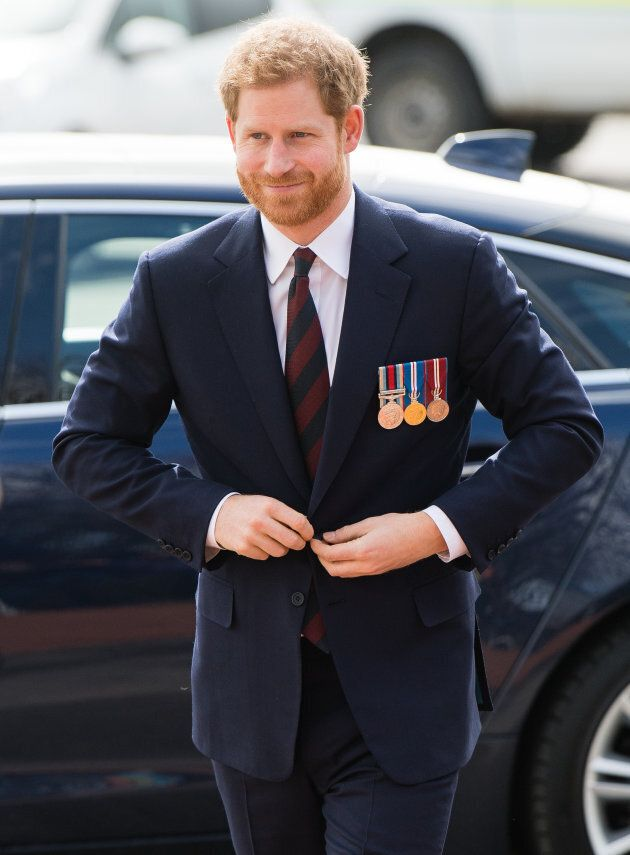 Prince Harry arrives at the Museum of Army Flying on March 16, 2018 in Stockbridge, England.