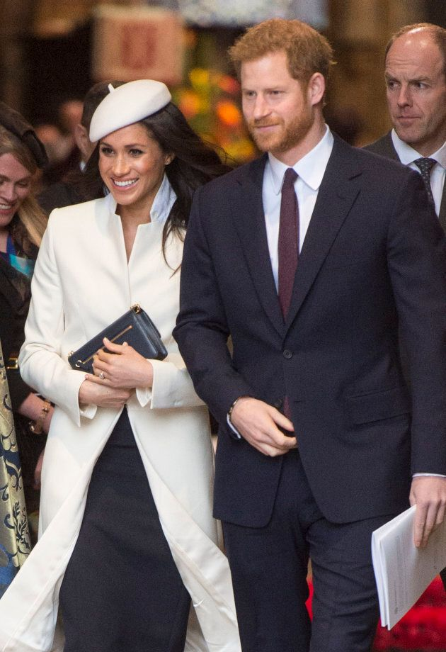 Meghan Markle and Prince Harry at the 2018 Commonwealth Day service at Westminster Abbey on March 12, 2018.