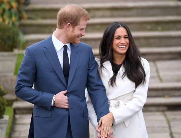 Prince Harry and Meghan Markle at their engagement photocall at Kensington