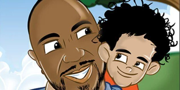Arnold Henry (L) and son Amarion (R) in the children's book