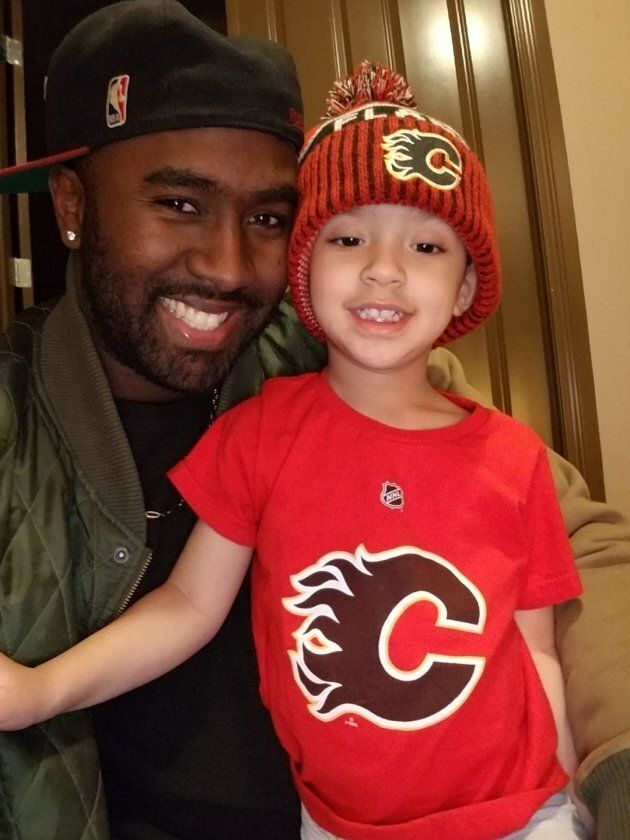 Arnold Henry and his son Amarion.