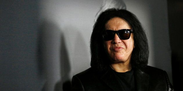 Musician Gene Simmons attends the premiere for the documentary