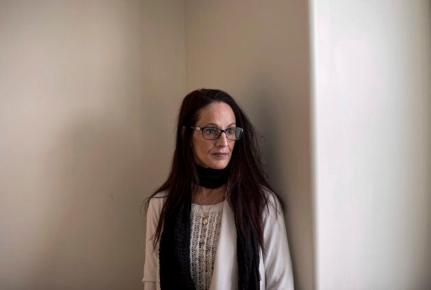 Jennifer Holleman poses after speaking about her late daughter Maddison Fraser's coercion into the sex...