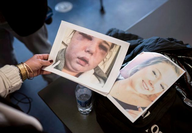 Jennifer Holleman compares two photos of her late daughter Maddison Fraser after Holleman spoke of her...