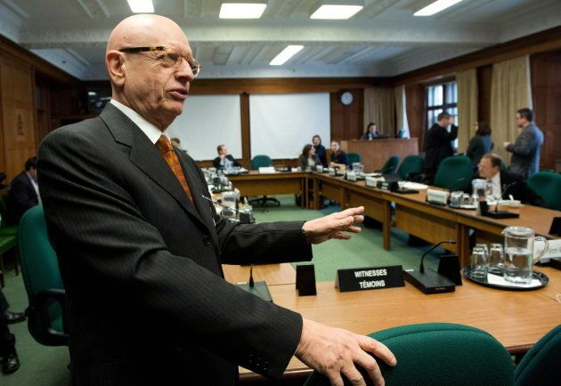 Jean-Pierre Kingsley appears at a Commons house affairs committee on Parliament Hill in Ottawa on Nov....