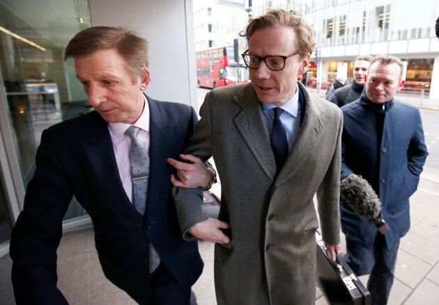 Alexander Nix, CEO of Cambridge Analytica arrives at the offices of Cambridge Analytica in central London,...
