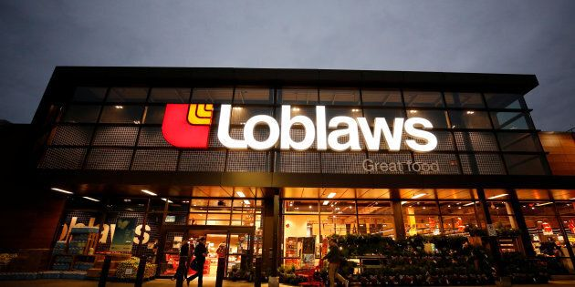 A Loblaws supermarket is pictured in Ottawa, Nov. 14, 2017. Canadians have lost some of their faith in the country's food retailers in the wake of the bread price-fixing scandal, a new survey finds.