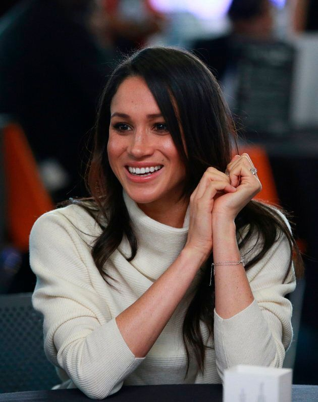 Meghan Markle attends an event with the prince hosted by social enterprise Stemettes to celebrate International Women's Day at Millennium Point in Birmingham on March 8, 2018.