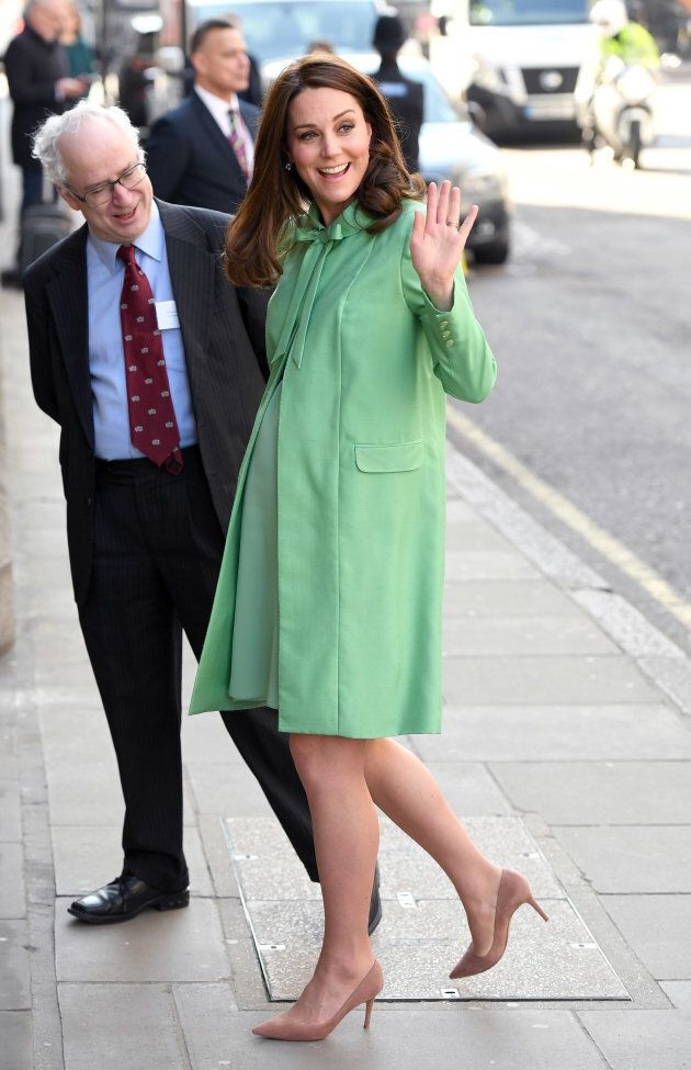 The Duchess of Cambridge arrives at the symposium at Royal Society of Medicine on March 21, 2018.