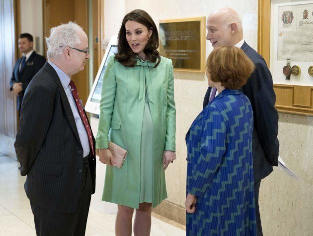 Catherine meets Sir Simon Charles Wessely, President of the Royal Society of Medicine, Peter Fonagy, Chief Executive at The Anna Freud Centre and Lorraine Heggessey of the Royal Foundation.