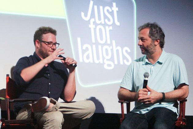 Actor Seth Rogen and director Judd Apatow attend the 2016 Just For Laughs Comedy Festival screening of...