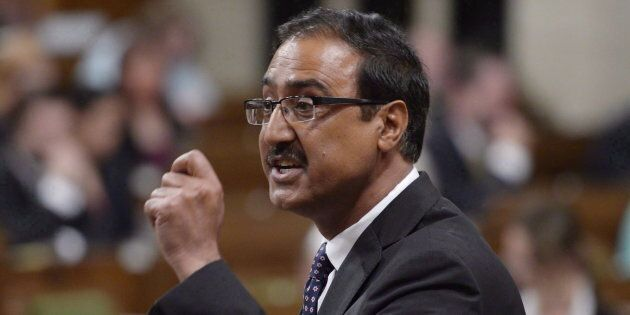 Infrastructure Minister Amarjeet Sohi responds to a question in the House of Commons on June 15,