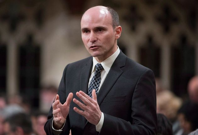 Families, Children and Social Development Minister Jean-Yves Duclos rises in the House of Commons in...