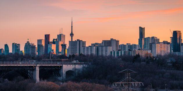 The skyline seen in Toronto,