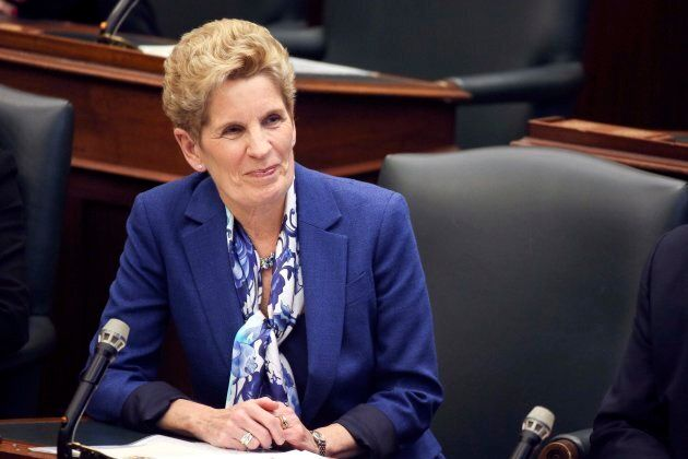 Premier Kathleen Wynne during a throne speech at Queen's Park on March 19,