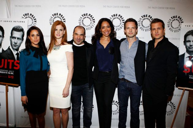 """Meghan Markle and the cast of """"Suits."""""""