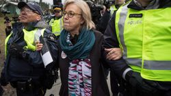 Green Leader Elizabeth May Arrested At B.C. Pipeline