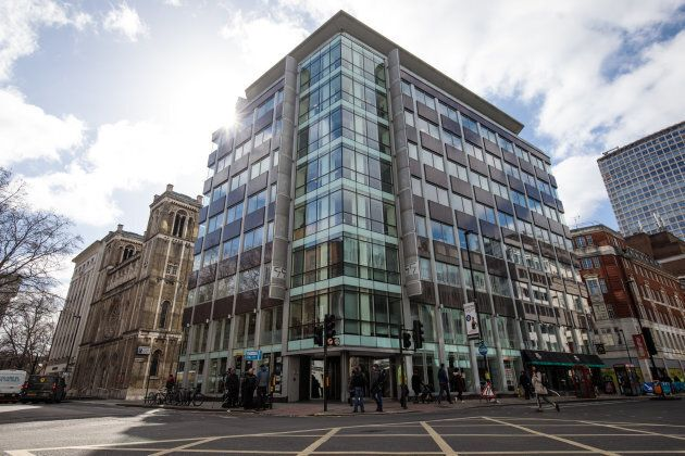 The London headquarters of Cambridge Analytica stands on New Oxford Street in central London on March...