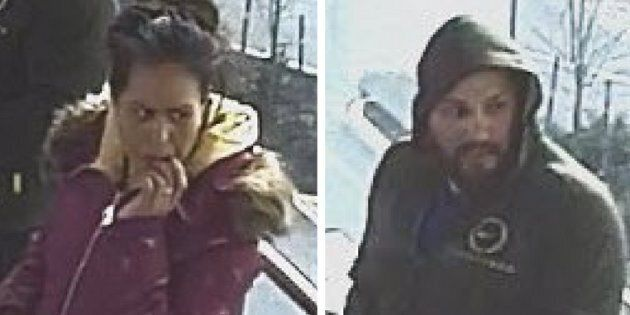 Metro Vancouver Transit Police say these unidentified suspects assaulted a 61-year-old woman on a bus...
