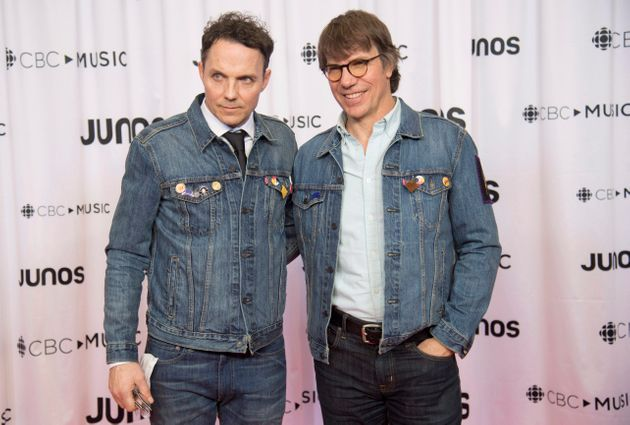Pat and Mike Downie, brothers of the late Gord Downie, are seen at the Juno Gala Dinner and Awards show...
