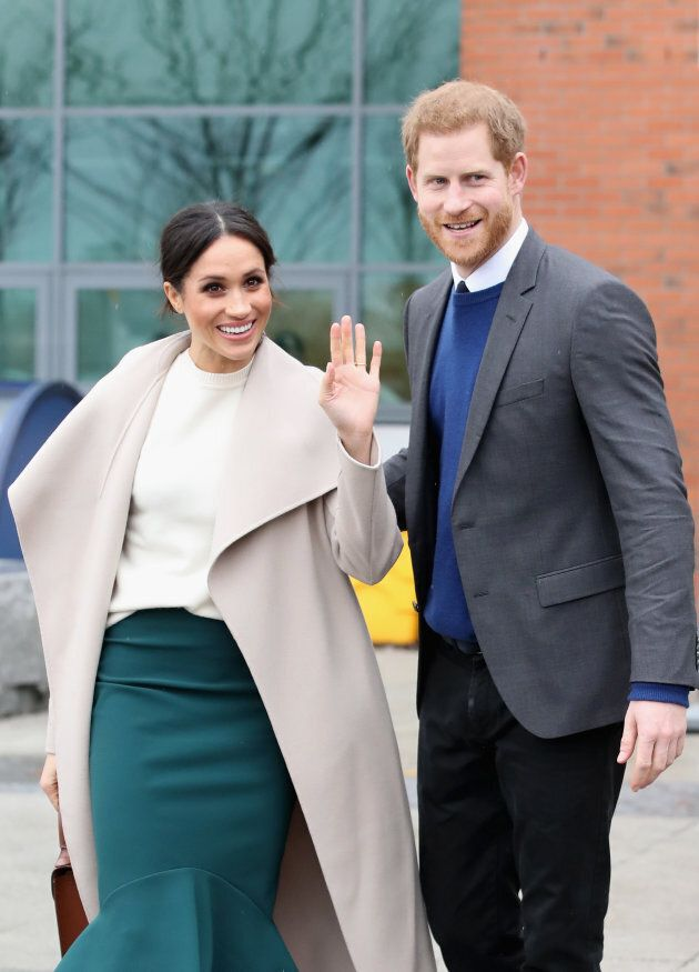 Prince Harry and Meghan Markle in Belfast, Nothern Ireland on March 23,
