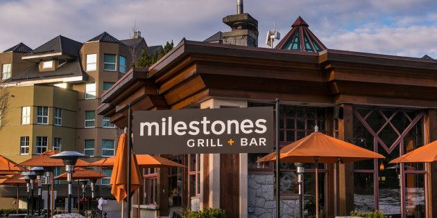 A Milestones restaurant is seen in Whistler, B.C. in 2013. Guillaume Rey, a former waiter at a Milestones...