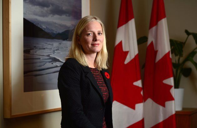 Environment and Climate Change Minister Catherine McKenna poses for a photo in her office on Parliament...